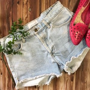 American Apparel Jeans Cutoff Shorts Button Fly 28